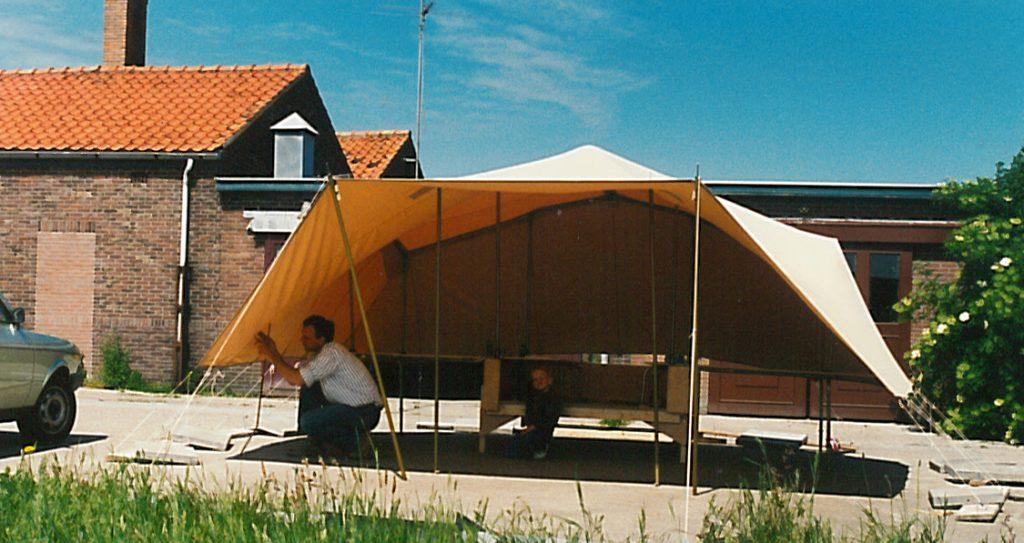 smitveld vouwwagen prototype bollenschuur